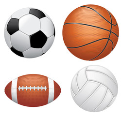 Sport balls on white background.