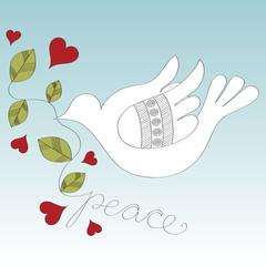Pigeon peace vector illustration