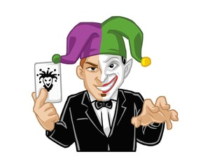 magician clown character image vector