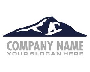 snowboard gestalt logo image vector