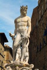 Florence Fountain of Neptune in the Piazza della Signoria