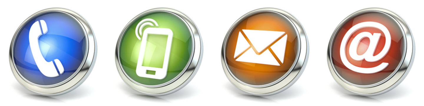 Contact icons 3D