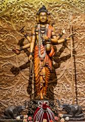 Shiva carved wood