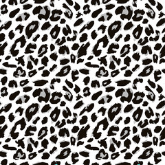 Leopard skin print pattern. Seamless animal fur pattern