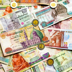 Colorful Egyptian money