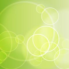 Hintergrund - Kreise - gelbgrün