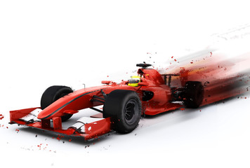 Door stickers F1 F1 generic racing car with special effect