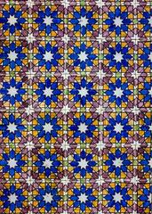 Fotomurales - Ancient ceramic tile in Lisbon street, Portugal.