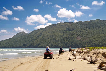 ATV's on the beach in Cayo Levantado, Dominican Republic.