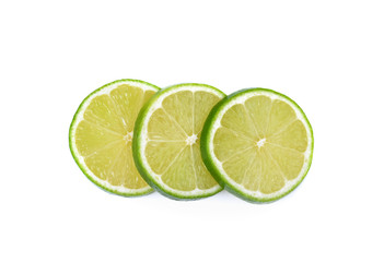 fresh lemon sliced   isolated on a white background
