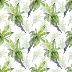 Spring branch of bird cherry seamless pattern