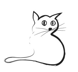 cat doodle,  illustration icon