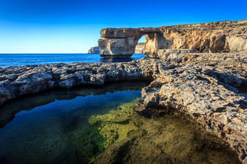 Azure window at Dwejra, Gozo, Malta