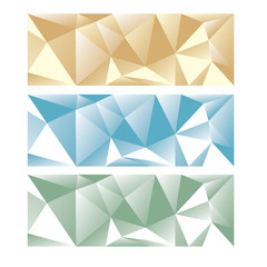 abstract low poly panoramic background