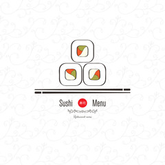 Sushi menu. Flat design
