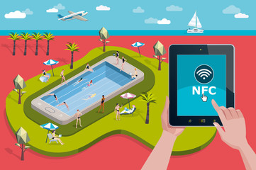 Vacation Resort and NFC Technology