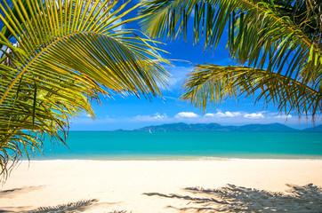 Hintergrund: Tropischer Traumstrand