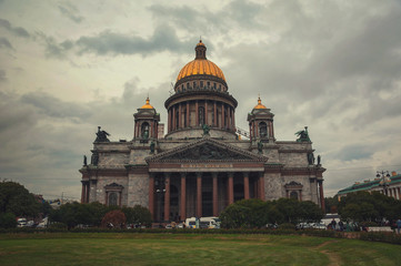 St Isaac Cathedral at twilight, Saint Petersburg, Russia