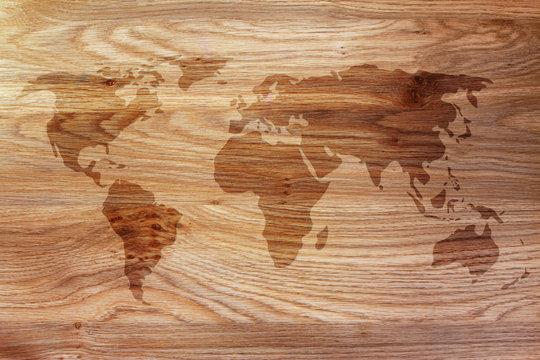 World map overlay background