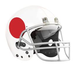 Flagged Japan American football helmet