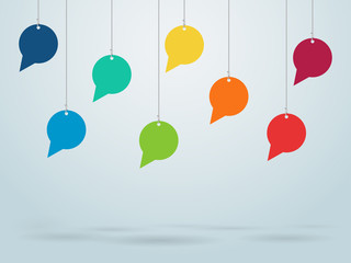 Hanging Speech Bubbles Vector Design