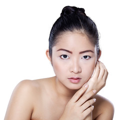 Beauty face of chinese girl