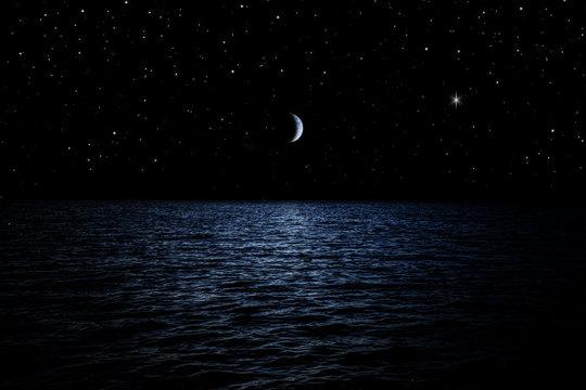 Sternenhimmel über dem Meer