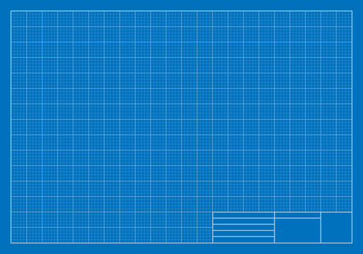 Drafting Blueprint, Grid, Architecture