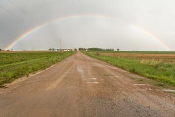Wall Mural - Drive Through A County Rainbow