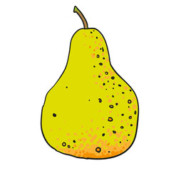 pear hand drawn fruits isolated vector