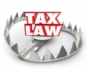 Tax Law 3d Red Words Bear Trap Legal Rules Regulations