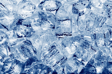 Ice cubes close-up