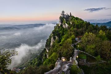 San Marino Castle Early Morning Wall mural
