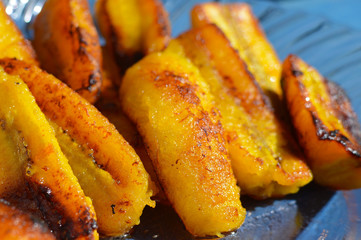 Ripe fried plantain - traditional dish in Central America