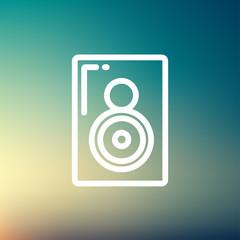 Two way audio speaker thin line icon