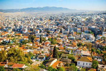 Athens cityscape view