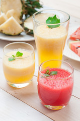 Colorful fruit drinkings