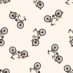 bicycle cartoon design , cartoon seamless pattern background
