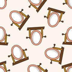 mirror , cartoon seamless pattern background