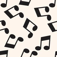 music note , cartoon seamless pattern background