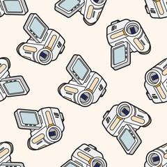 video camera , cartoon seamless pattern background