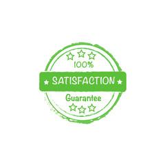 100% customer satisfaction guaranteed vector