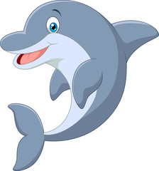 Standing Dolphin. Vector Illustration