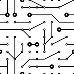 printed circuit seamless pattern