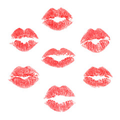 Vector lips prints set