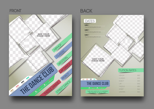 Dance Club Front and Back Flyer & Poster Cover Template