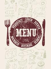 Vector restaurant menu design.