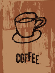 Coffee. Typographic retro poster.