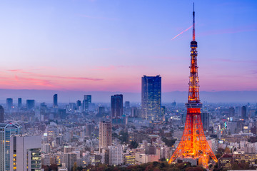Photo on textile frame Tokyo Tokyo Tower, Tokyo, Japan