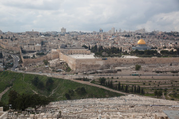Jerusalem from the Mount of Olives CIRCA Feb. 2013
